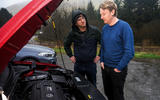 Richard Lane looking at VW T-Roc R engine