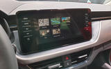Skoda Scala official reveal stage infotainment display