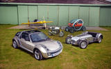 Smart Roadster, Lotus 6, Renault Twizy, Cassutt Special, Triumph Thruxton R