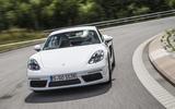 Porsche 718 Cayman cornering