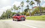 Audi Q2 by palm trees