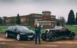 Dan Geoghegan with Jaguar I-Pace and Alvis Roadster