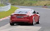 Tesla Model S Plaid prototype at Nurburgring - rear