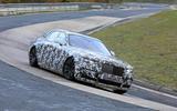 Rolls-Royce Ghost Nurburgring spies  side rear
