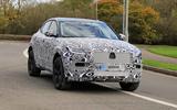 Jaguar E-Pace facelift spies front