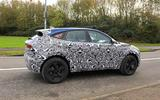 Jaguar E-Pace facelift spies side rear