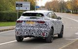 Jaguar E-Pace facelift spies rear side