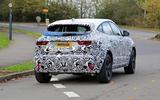 Jaguar E-Pace facelift spies rear again