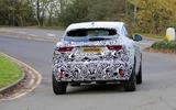 Jaguar E-Pace facelift spies rear on