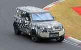 2020 Land Rover Defender testing at Nurburgring