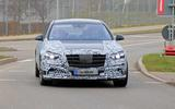 Mercedes S-Class spyshots new front
