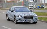 Mercedes S-Class spyshots new front 3/4