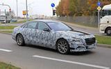 Mercedes S-Class spyshots new side front