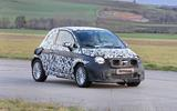 Fiat 500e new spies front