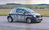 Fiat 500e new spies front 3/4