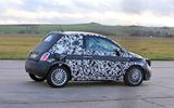 Fiat 500e new spies side rear