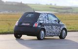 Fiat 500e new spies rear side