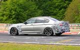 2021 BMW M5 CS prototype at Nurburgring - cornering side