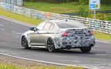 2021 BMW M5 CS prototype at Nurburgring - cornering rear