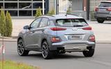 Hyundai Kona N spyshots rear road