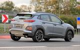 Hyundai Kona N spyshots side rear