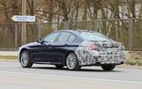 2021 BMW 5 Series saloon prototype - rear