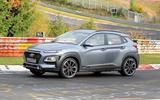 Hyundai Kona N spyshots side rear track