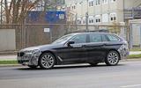 2021 BMW 5 Series Touring prototype - side