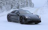 Porsche Taycan spies winter testing