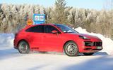 2020 Porsche Cayenne Coupe GTS prototype winter testing