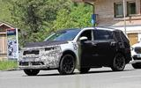 New Kia Sorento spyshot front side