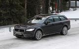 Volvo V90 facelift spyshots front side