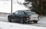 Volvo S90 facelift spyshots side rear