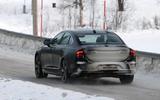 Volvo S90 facelift spyshots rear