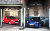 Ford Focus RS Fiesta ST at Bicester Heritage