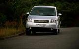 Audi A2 cornering