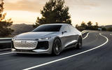 At the front is an aero-friendly e-tron evolution of Audi's large iconic Singleframe grille