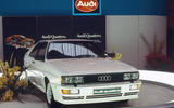 The road-going Audi Quattro – launched in 1980 – changed the game for all-wheel drive