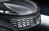 The Audi Grandsphere concept's LED headlights are inspired by the Audi logo's four rings