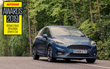 The Fiesta ST's active exhaust technology delivers the full orchestra of throaty pops and bangs