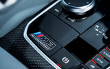 Iconic BMW M logos add to the race-bred feel of the BMW M3 and M4
