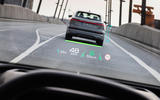 The Audi Q4 e-tron's augmented reality HUD projects data, so it feels like it's floating 10m away