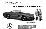 1957 advert in Autocar magazine for Mercedes-Benz 300 SL Roadster