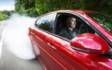 Alfa Romeo Giulia Quadrifoglio burning out