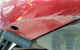 Alfa Romeo Giulia Quadrifoglio scraped bodywork