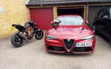 Alfa Romeo Giulia Quadrifoglio with motorbike