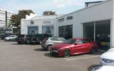 Alfa Romeo Giulia Quadrifoglio at the dealership