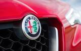 Alfa Romeo Stelvio front badging