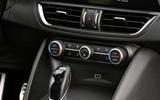 Alfa Romeo Giulia Veloce climate controls