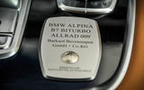Alpina B7 builder's plaque
